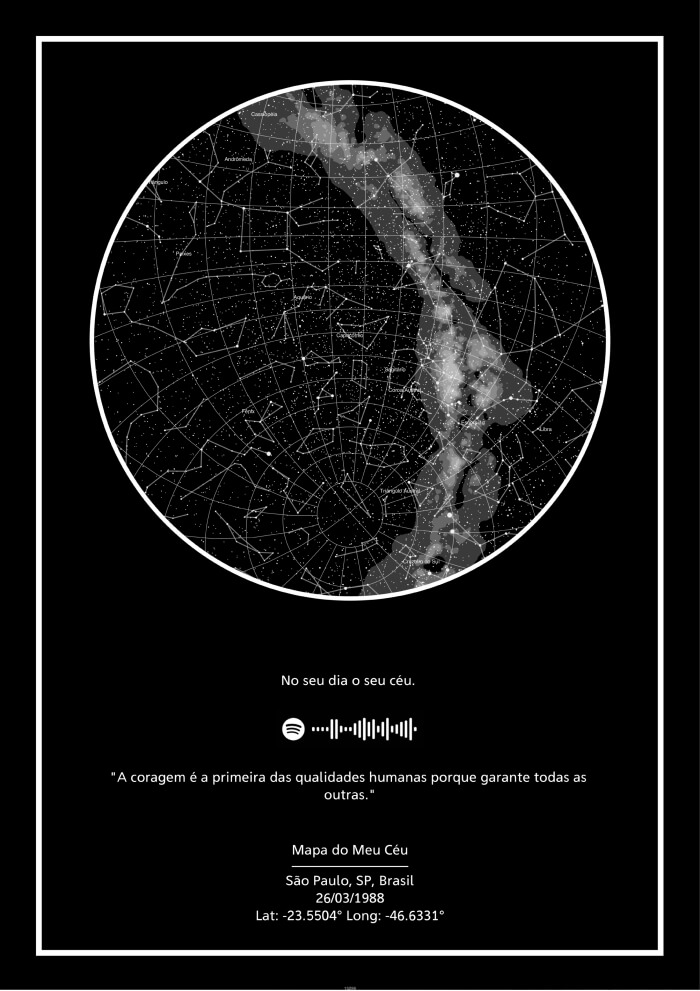 Mapa dos Planetas - QR Code Spotify