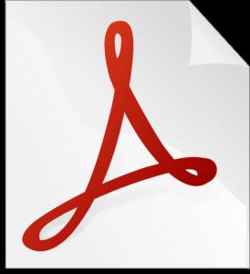 símbolo de arquivo PDF
