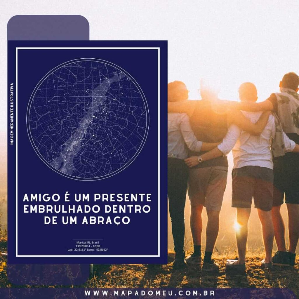 frase de amizade - amigo é um presente embrulhado em um abraço