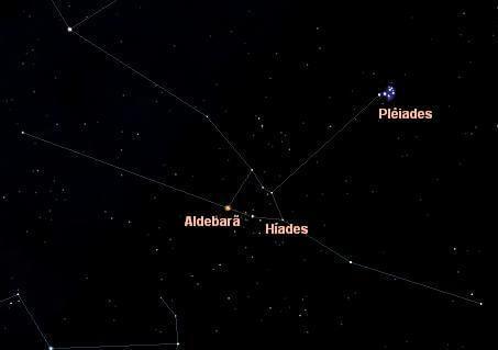 hiades na constelação de touro
