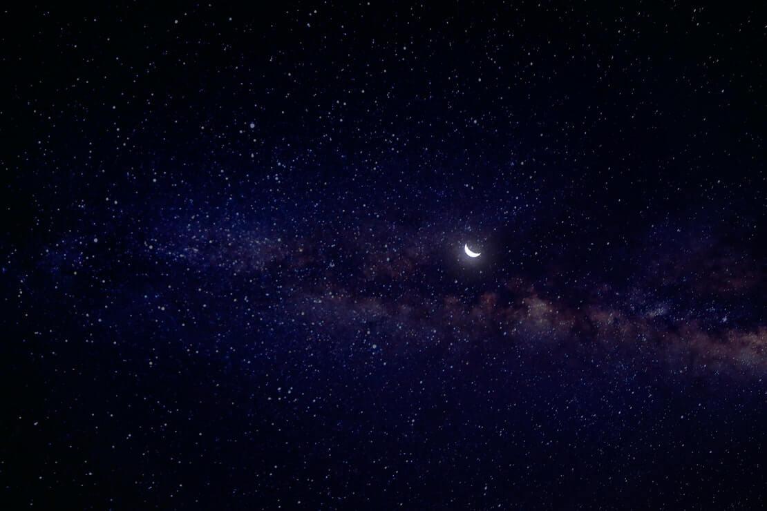 imagem do céu noturno representando a constelação de touro