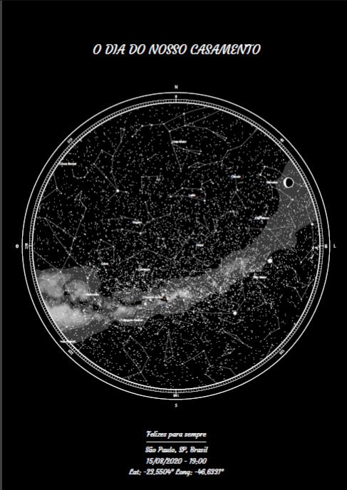 mapa do meu céu formato novo com data especial