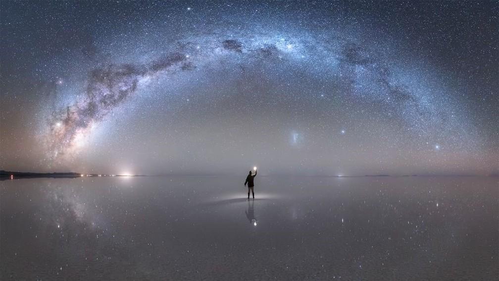 via lactea vista de terra por Jheison Huerta