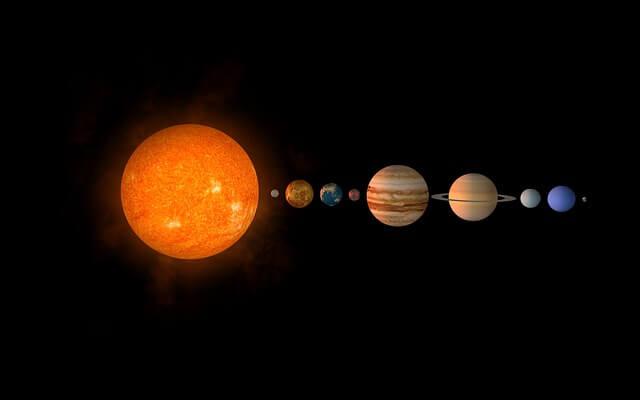 alinhamento dos planetas do sistema solar