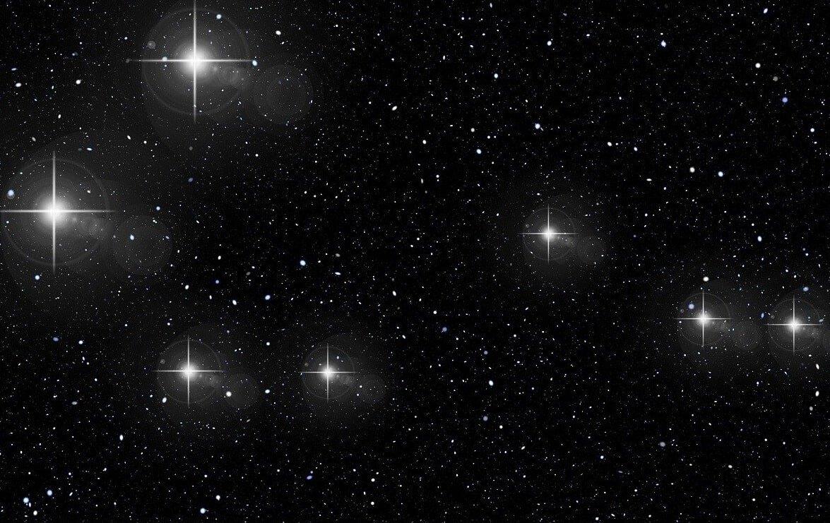 Constelação de Gêmeos - ilustração das estrelas do conjunto-min
