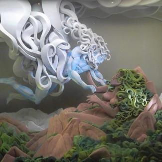 Urano e Gaia - Imagem blog Mitologia Helênica