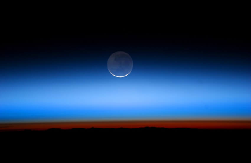 Earthshine_Imagem Earth Observatory Nasa