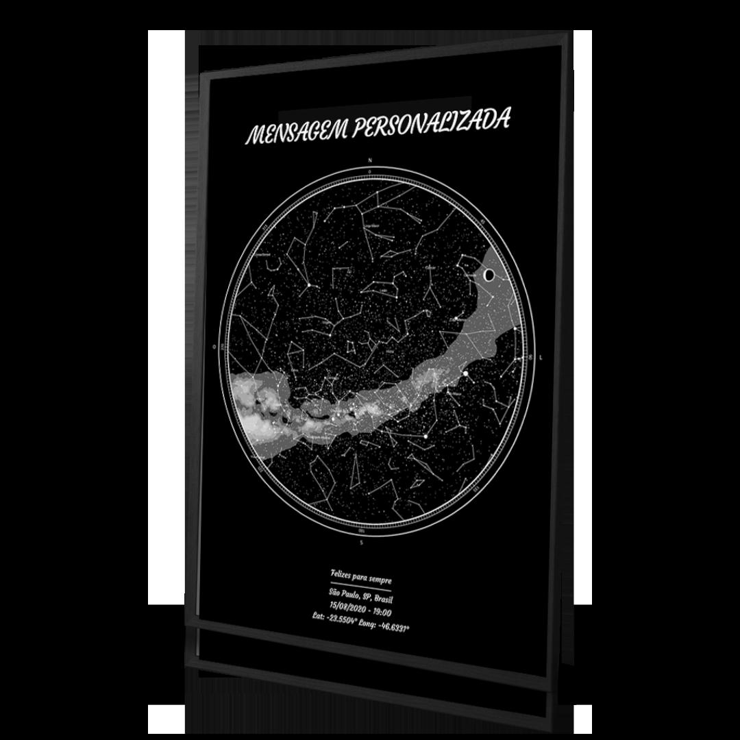 personalização de um mapa das estrelas de um dia especial