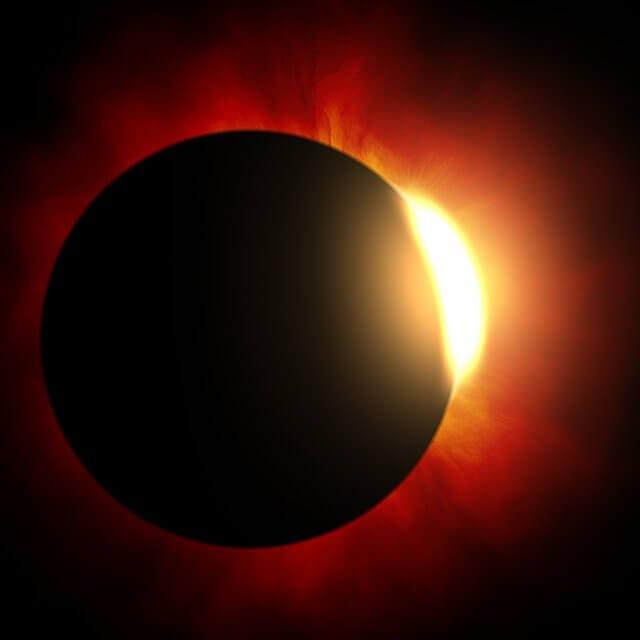 Calendário astronômico 2021 - Eclipse total do sol