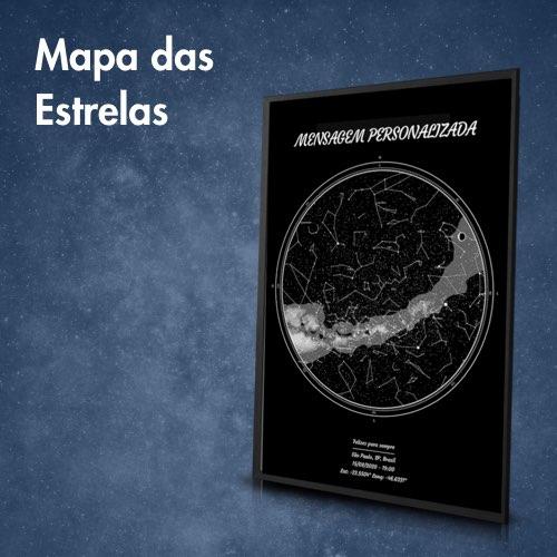 Mapa das Estrelas - imagem de pôster com para personalizar mensagem