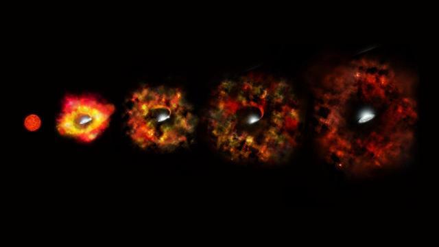 Imagens do universo - Nasa - Supernova virando buraco negro