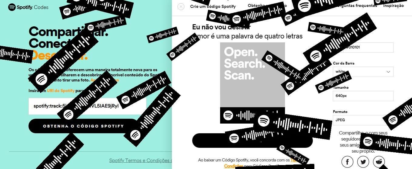 código qr do spotify - código criado com sucesso