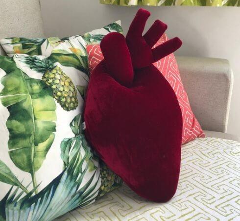 almofada criativa - coracao anatomico