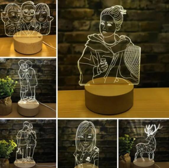 presente para casa nova - luminária personalizada