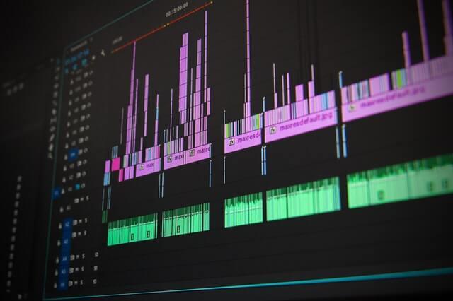 sonificação - o que é - gráfico no computador mostra sons