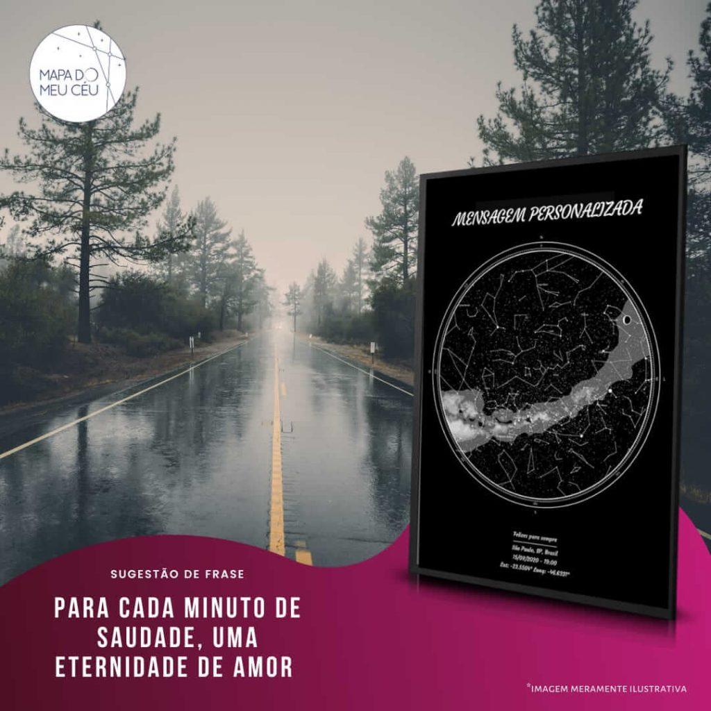mapa celeste - frases de saudade com estrada ao fundo