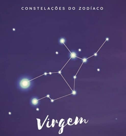 imagem da constelação de virgem