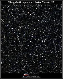 Messier 23 - aglomerado de estrelas