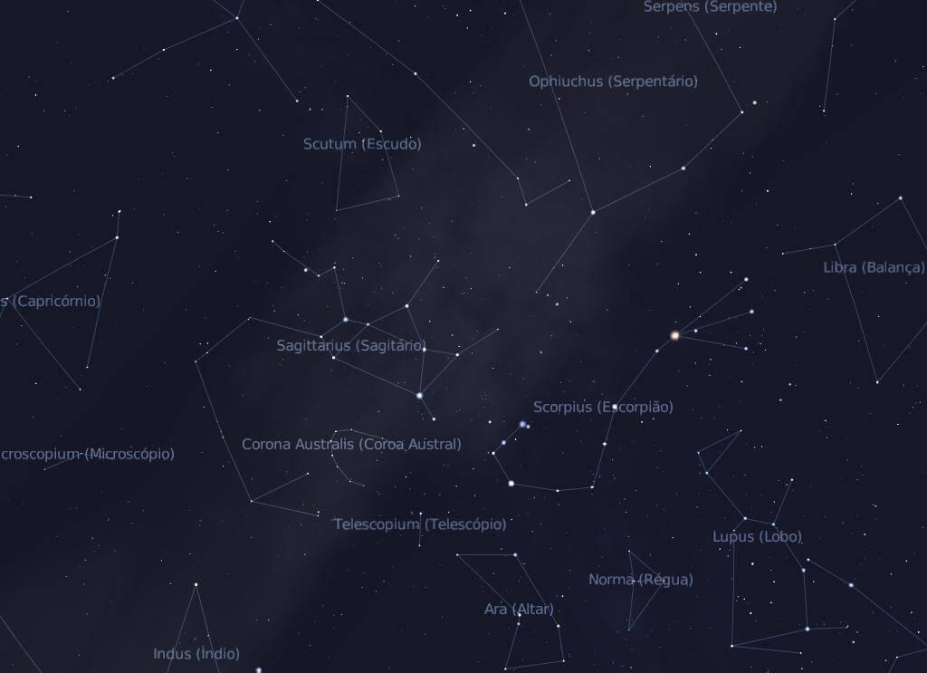 constelação de sagitário e constelações vizinhas