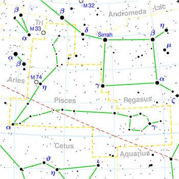 estrelas da constelação de peixes