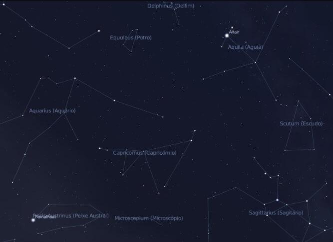 constelação de capricórnio vizinhança