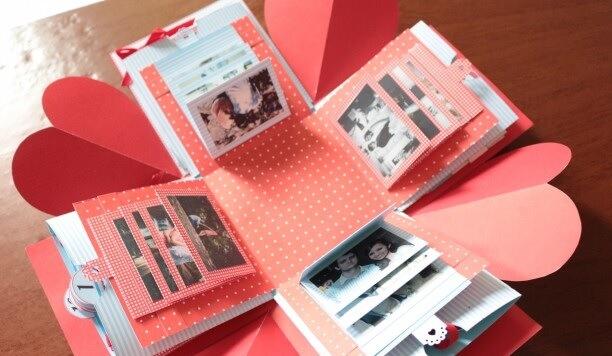 caixa explosiva - presente para namorado diy